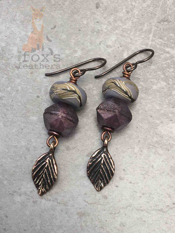 Shades of Autumn Earrings Purple