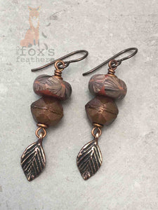Shades of Autumn Earrings Topaz