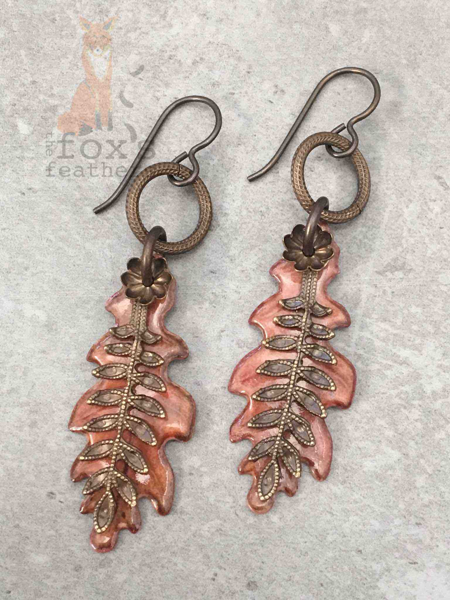 Leaf Earrings Fern