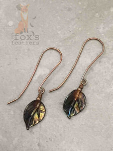 Leaf Earrings Glass