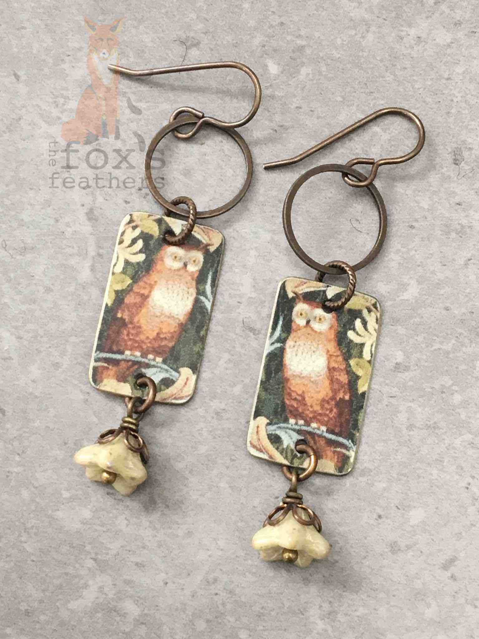 Forest Owl Earrings