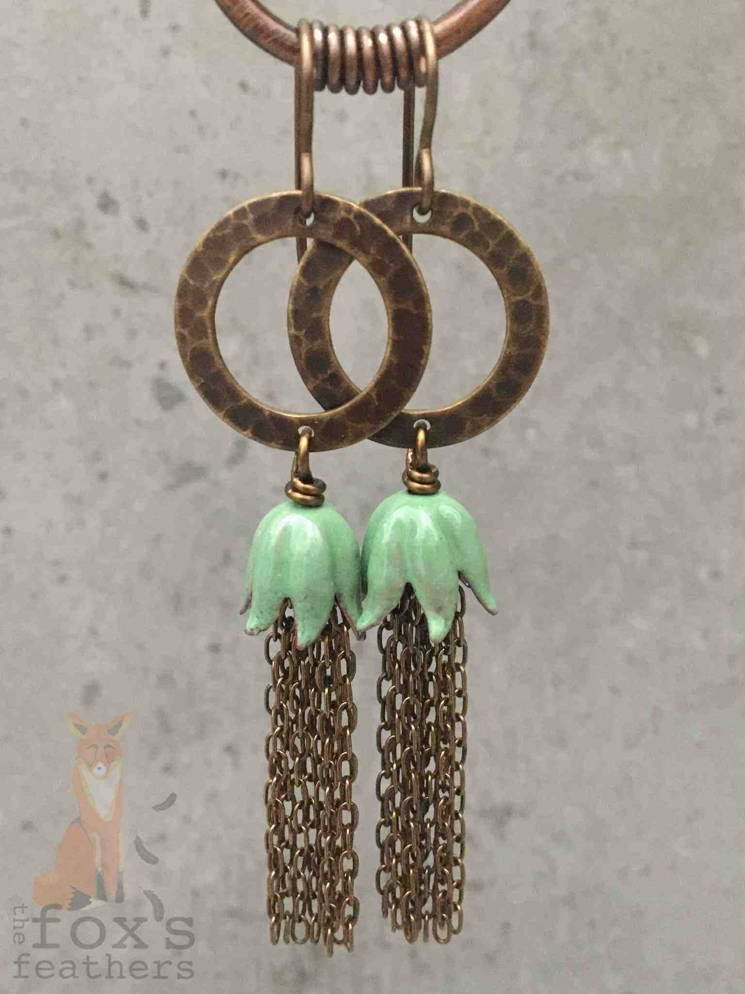 Chain Tassel Earrings Mint