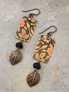 William Morris Earrings Autumn