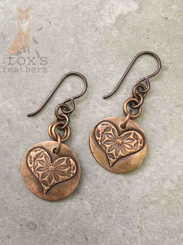 Moroccan Hearts Earrings Flowers