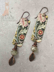 William Morris Garden Earrings Pink