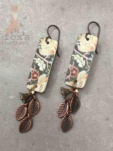 William Morris Garden Earrings Peach