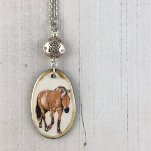 Into the Woods Necklace Chestnut Horse