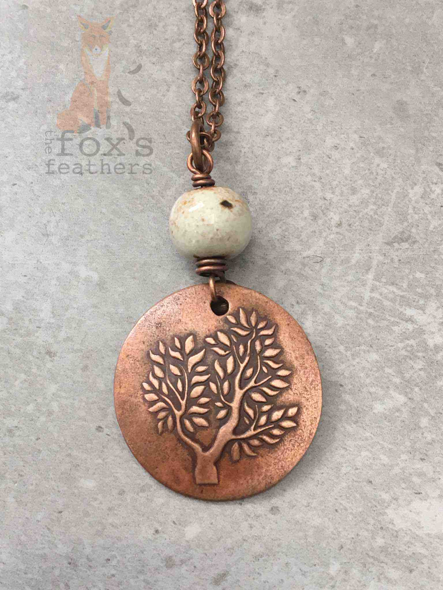 Tree of Life Necklace Cream
