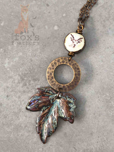 Maple Leaf Necklace Deer