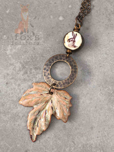Maple Leaf Necklace Hare