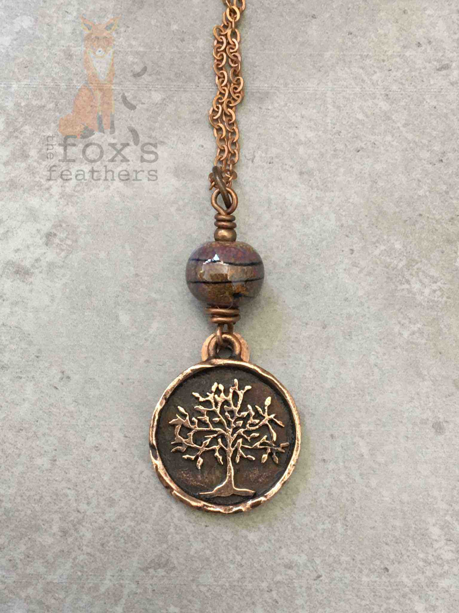 Tree of Life Necklace Copper