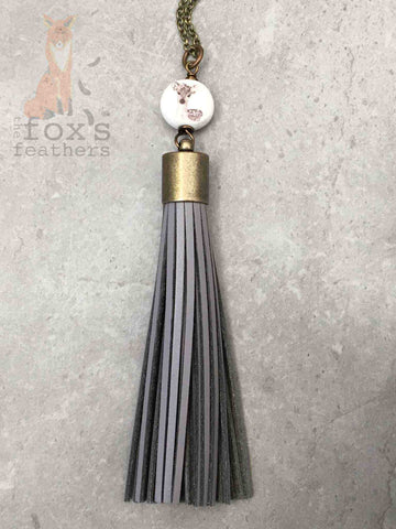 Boho Deer Tassel Necklace Lilac