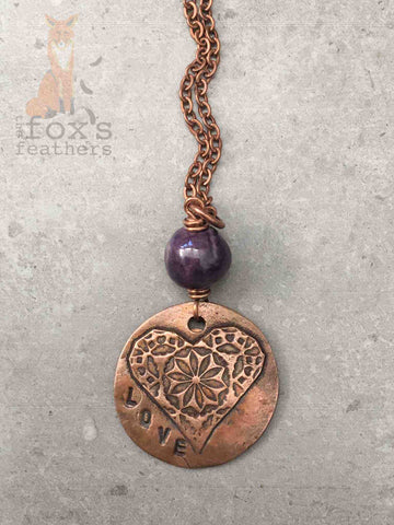 Moroccan Lace Necklace Amethyst