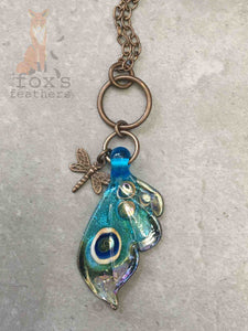 Dance of the Butterfly Necklace Aqua Sparkle