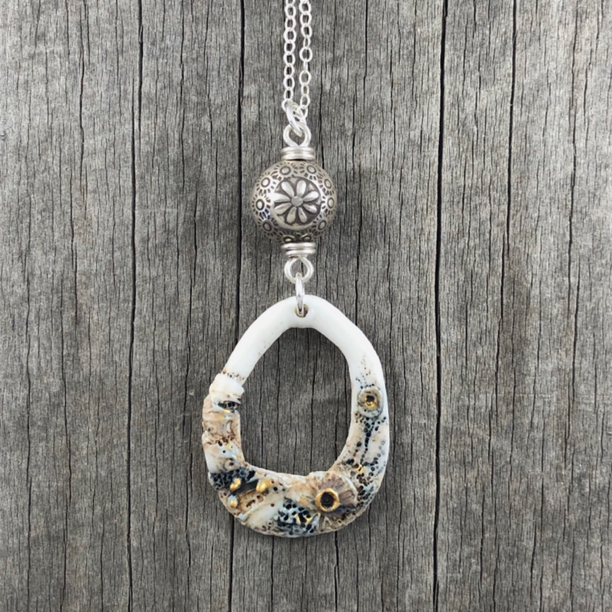 Organic Porcelain Necklace