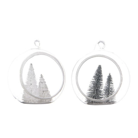Retro Fir Tree Open Bauble