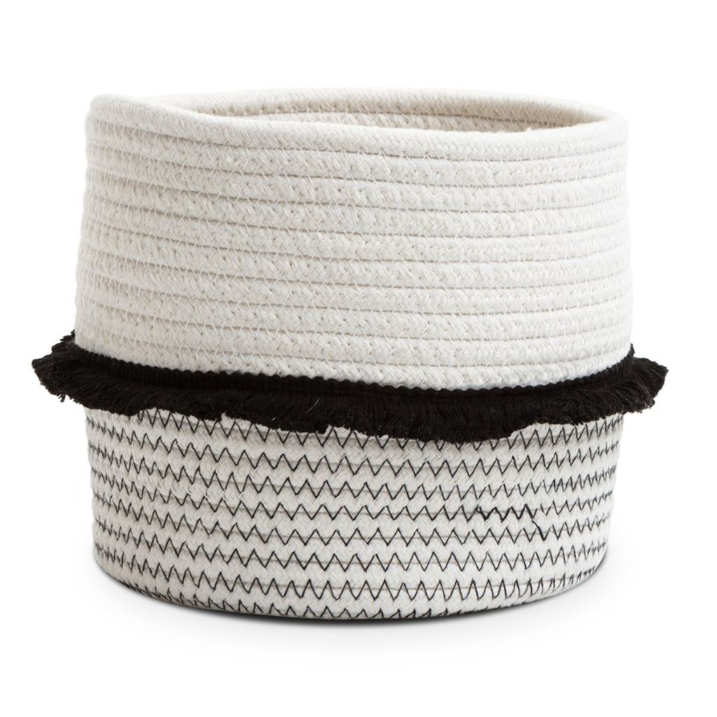 Monochrome Rope Frill Basket