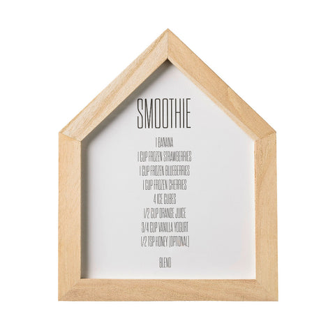 Washed Wood House Shape Picture Frame