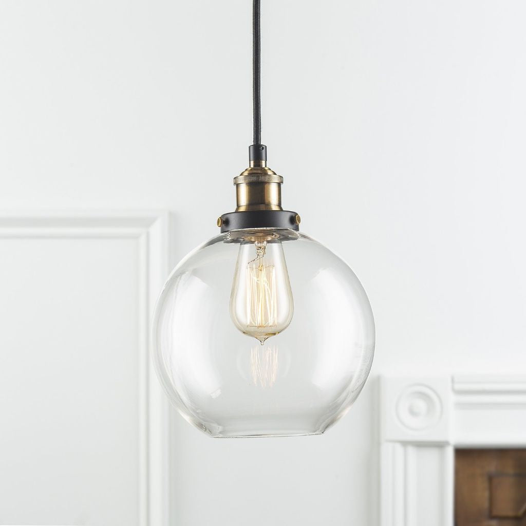 Glass Bowl Pendant Light