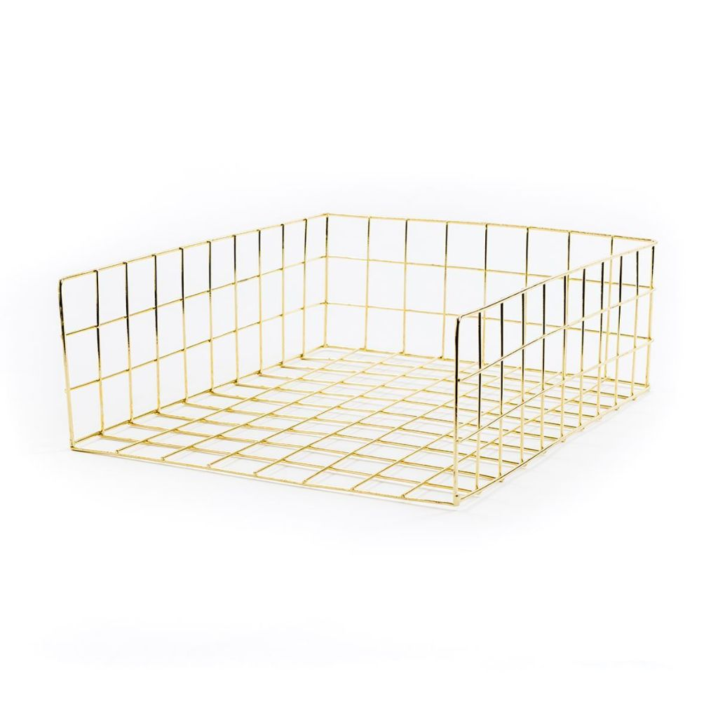 Gold Metal Wire Paper In-Tray