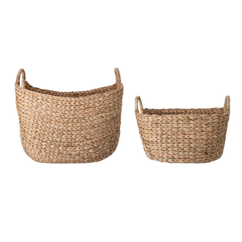 Natural Water Hyacinth Medium & Large Woven Baskets