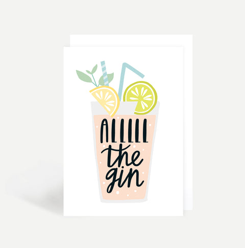 All The Gin Greetings Card