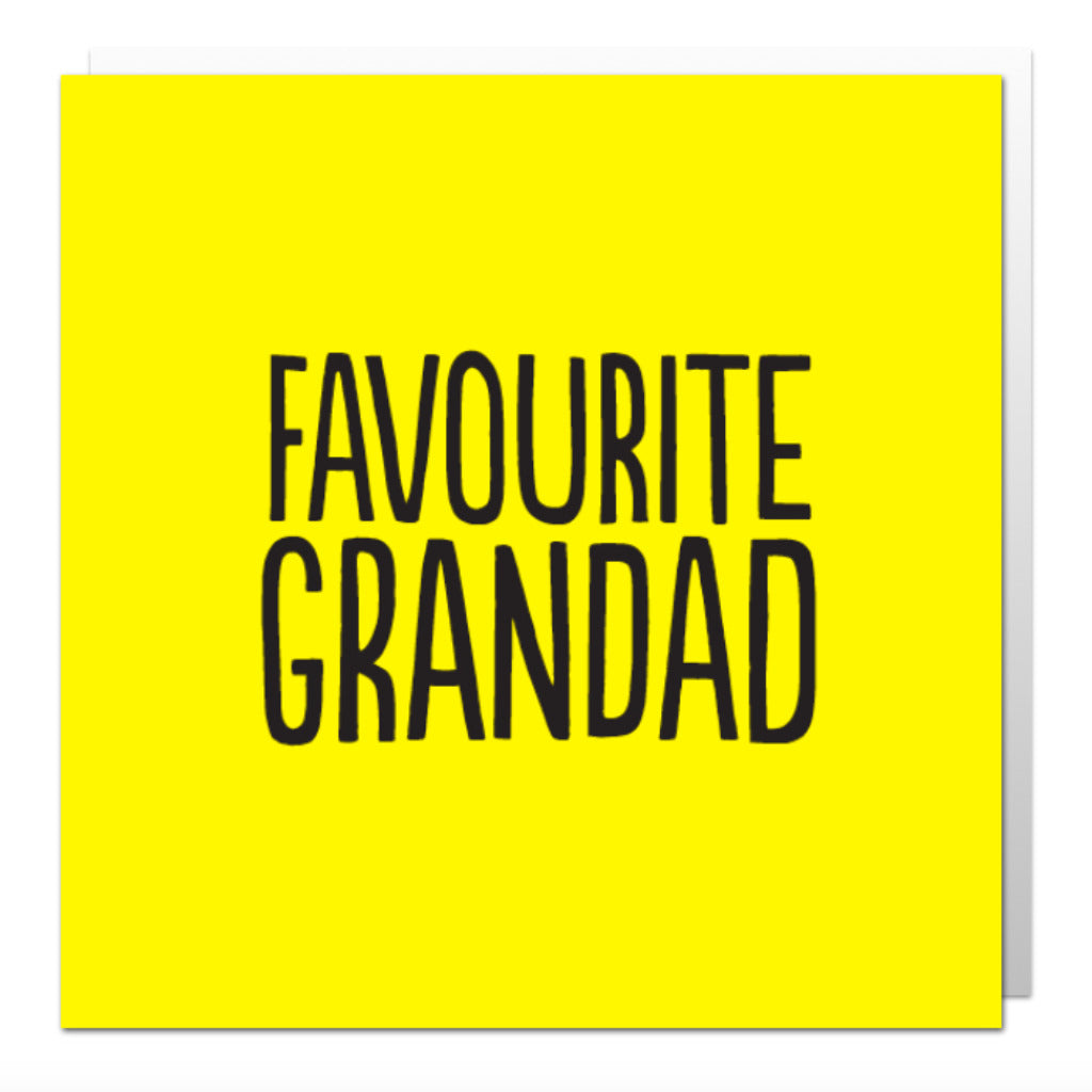 Favourite Grandad Greetings Card