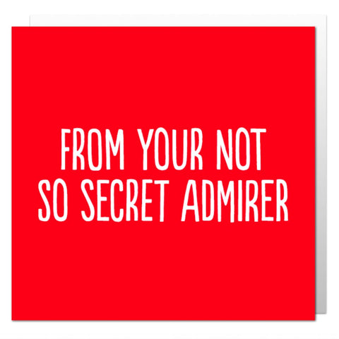Not So Secret Admirer Greetings Card