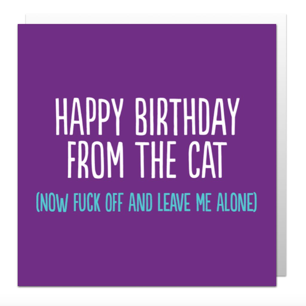 From The Cat Greetings Card