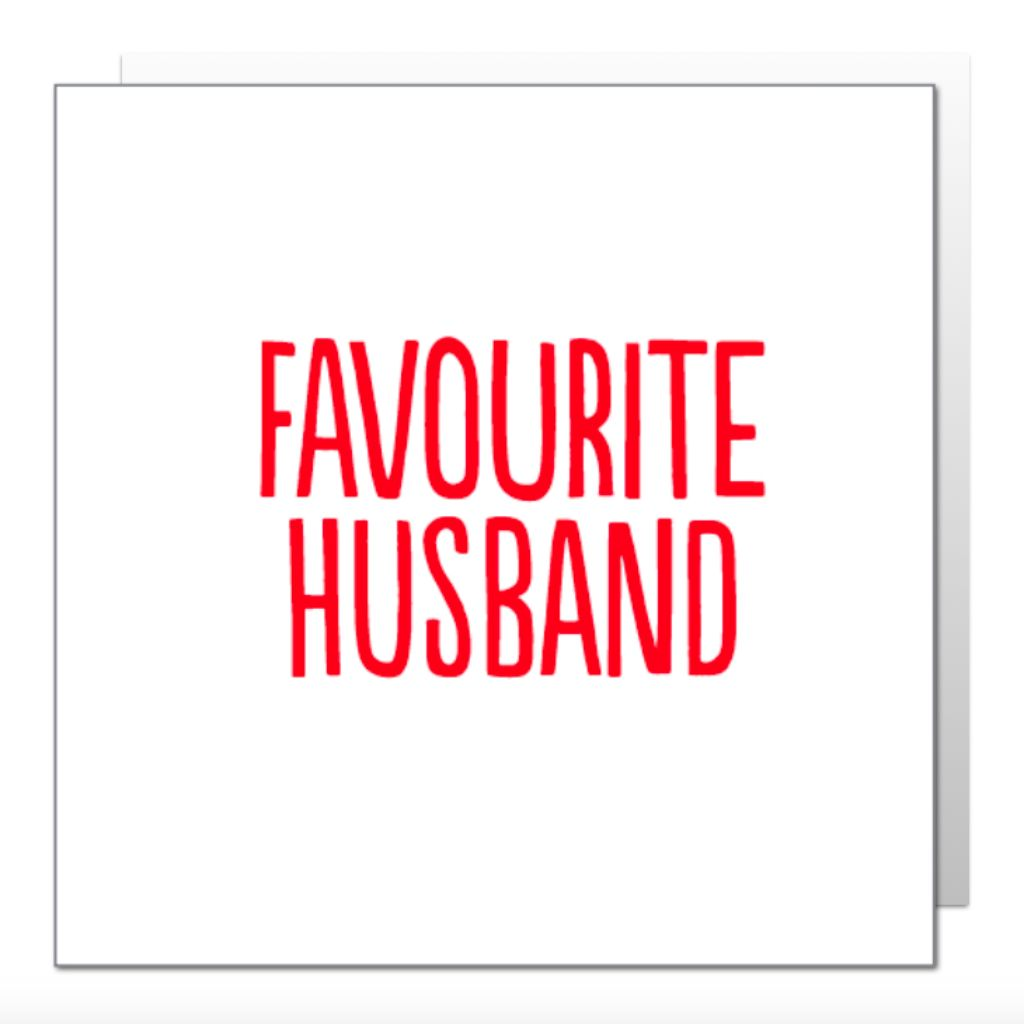 Favourite Husband Greetings Card