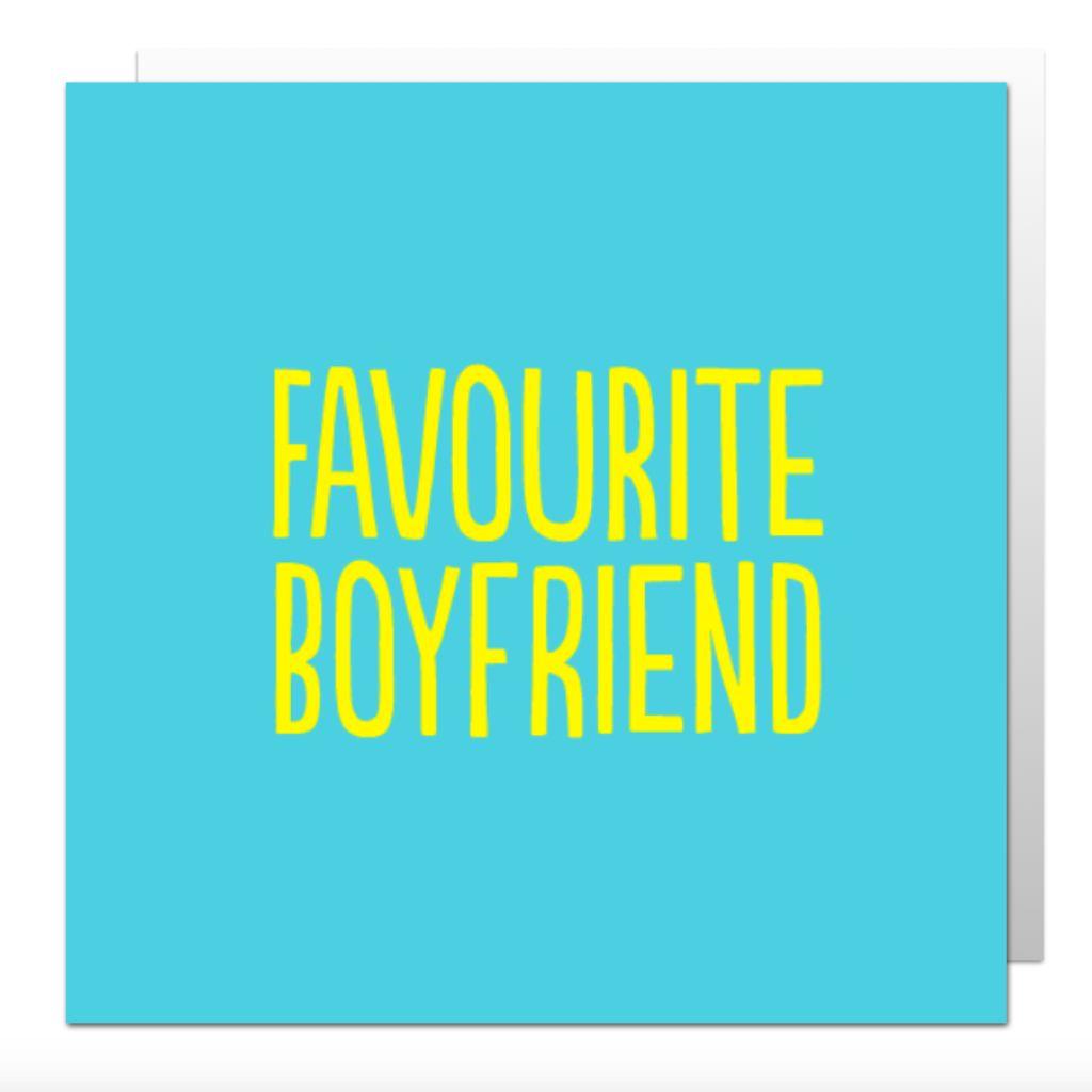 Favourite Boyfriend Greetings Card