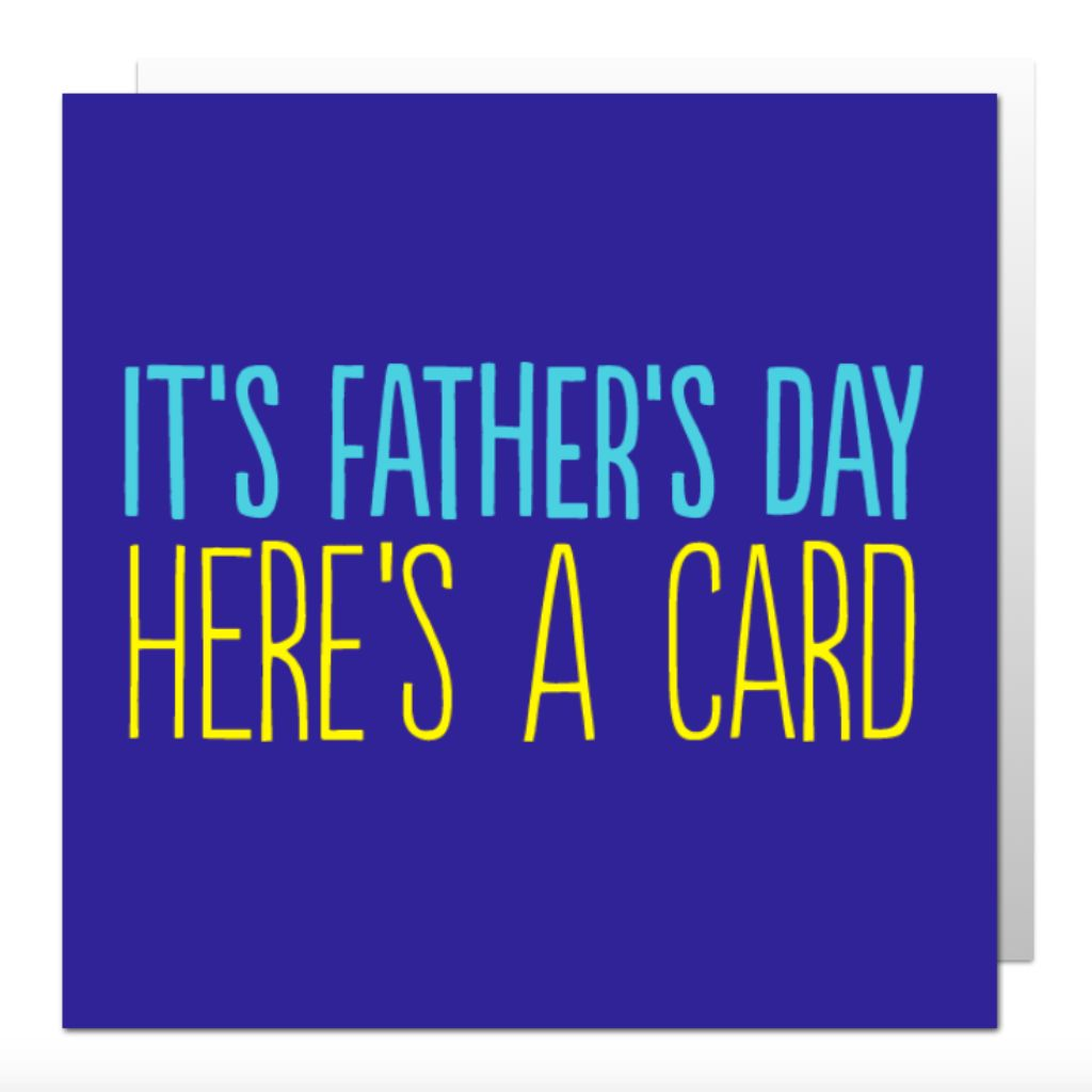 Father's Day Here's A Greetings Card