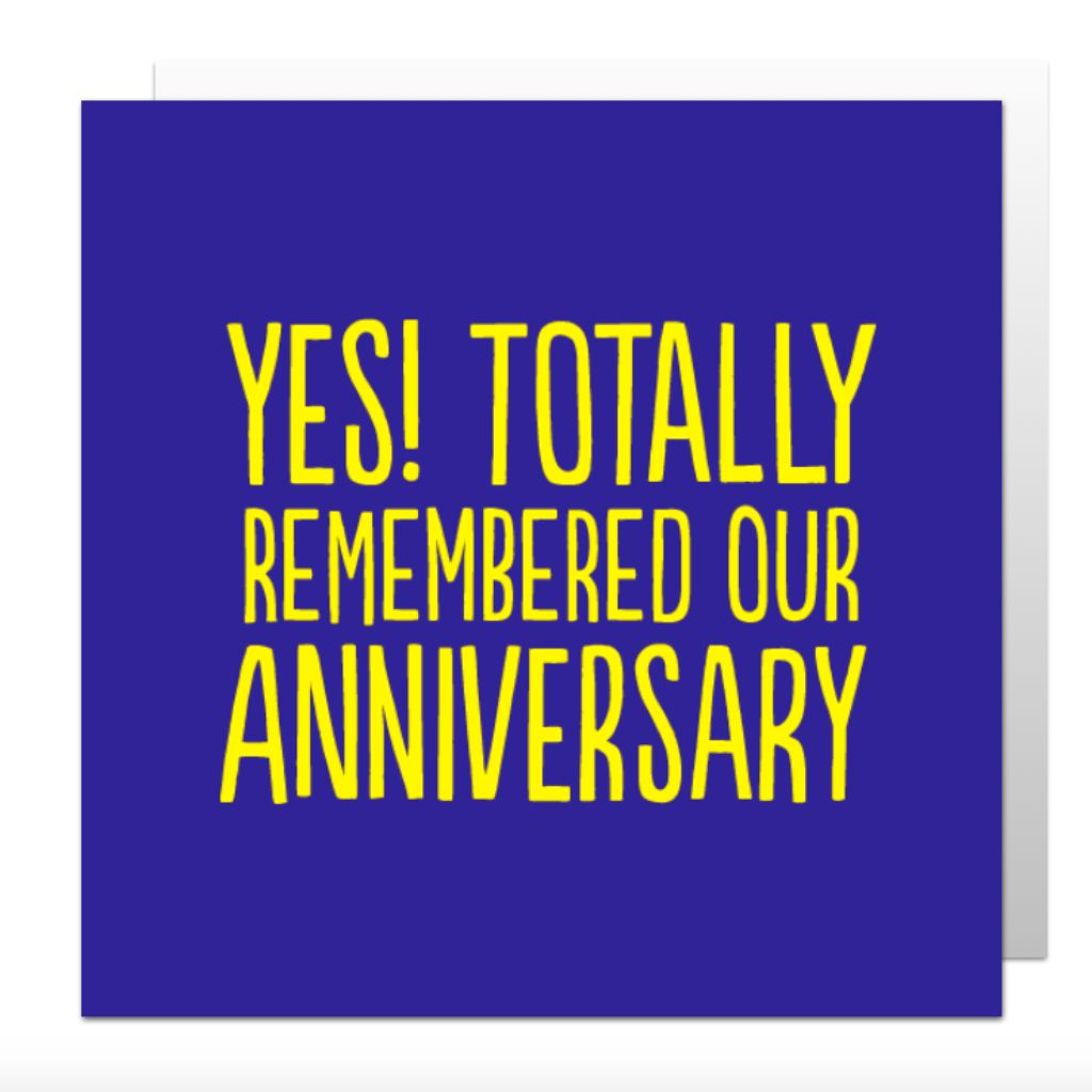 Totally Remembered Anniversary Greetings Card