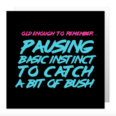 Basic Instinct Greetings Card