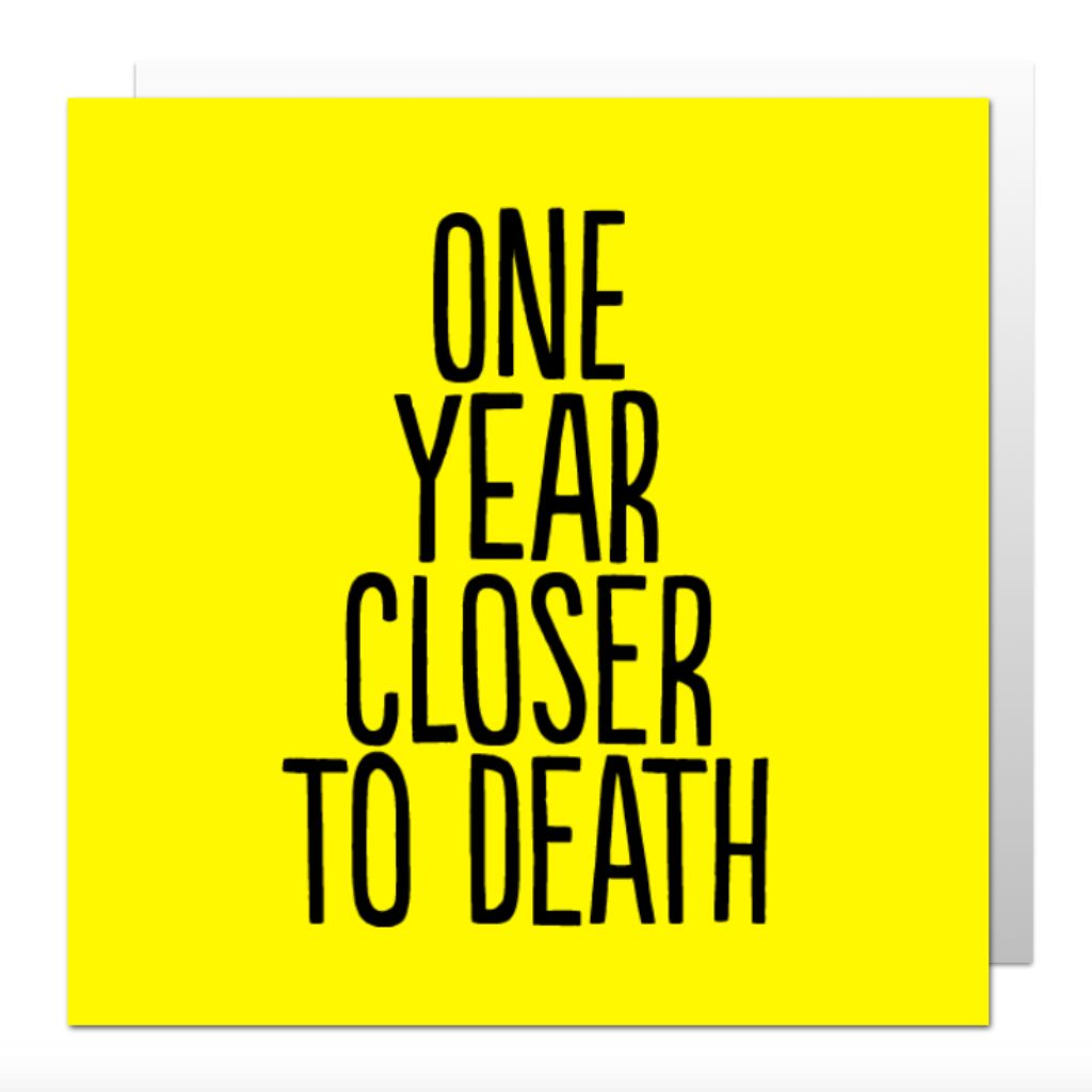 One Year Closer Greetings Card