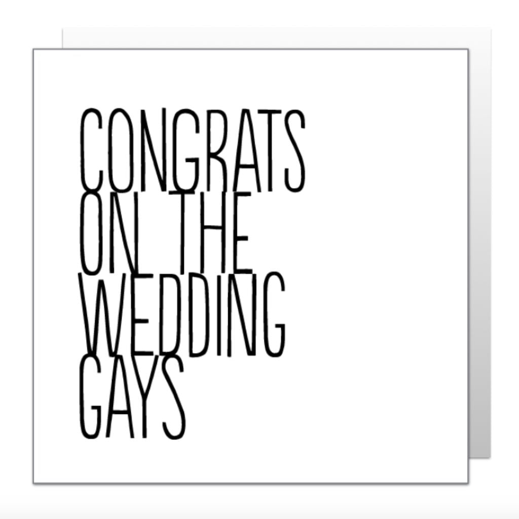 Congrats Gays Greetings Card