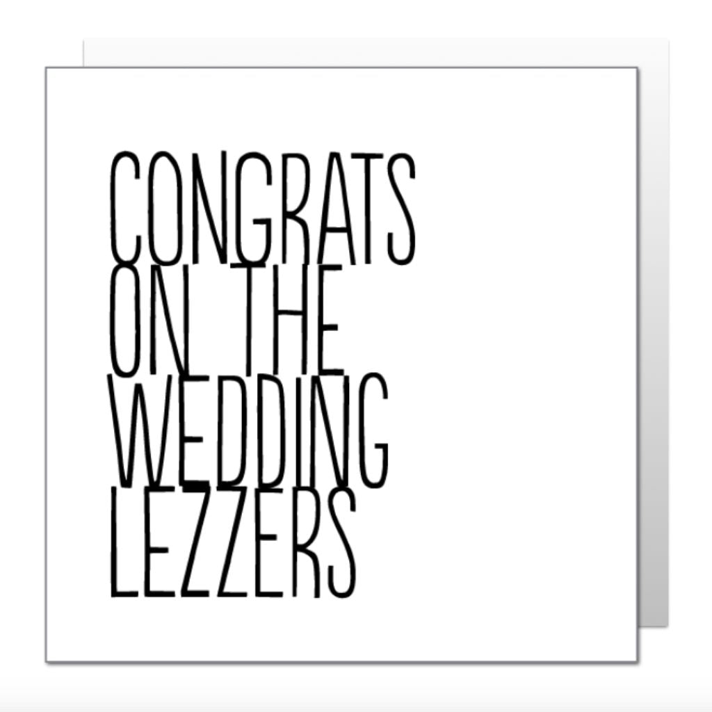 Congrats Lezzers Greetings Card