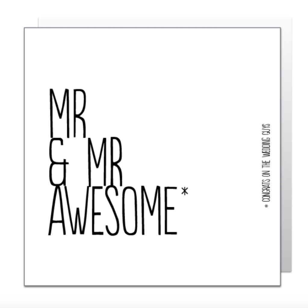 Mr & Mr Awesome Greetings Card