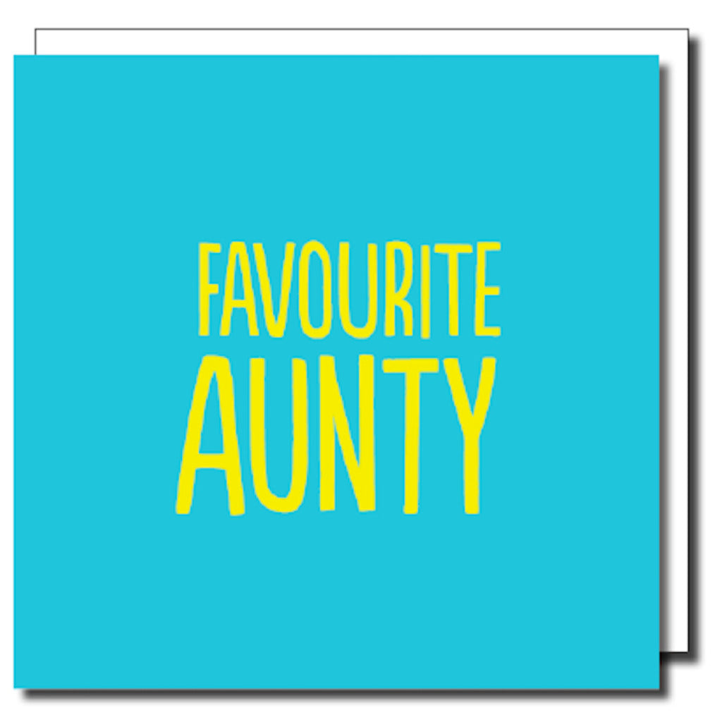 Favourite Aunty Greetings Card