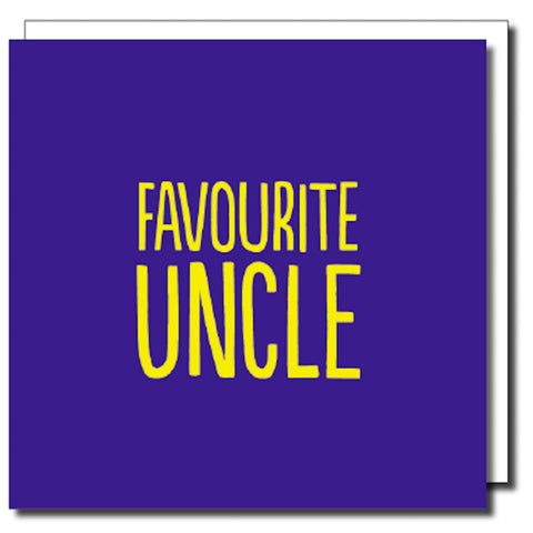 Favourite Uncle Greetings Card