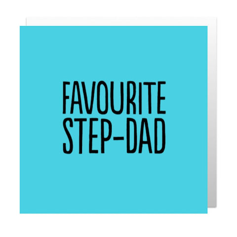 Favourite Step-Dad Greetings Card