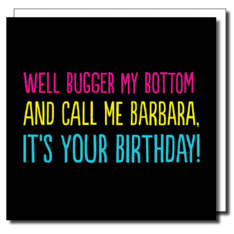 Call Me Barbara Greetings Card