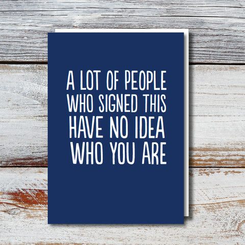 No Idea XL Leaving Card