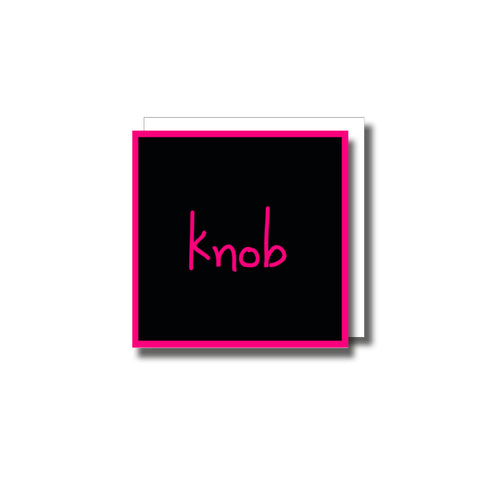 Knob Small Greetings Card