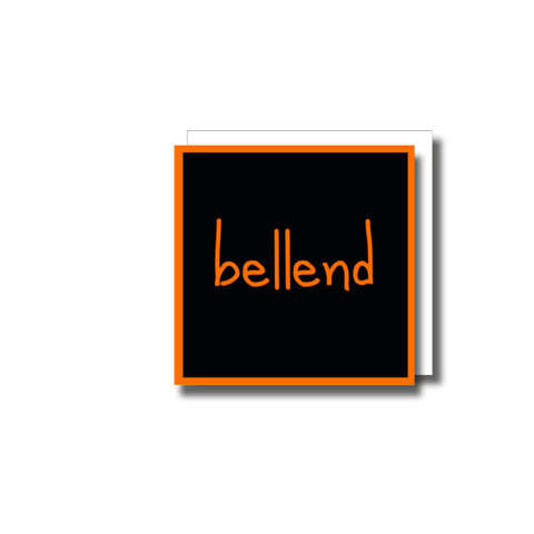 Bellend Small Greetings Card