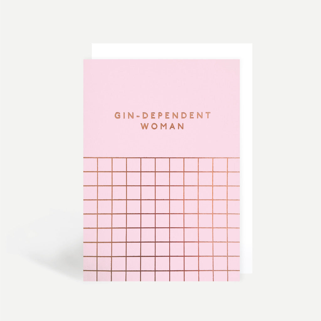 Gin-Dependent Woman Greetings Card