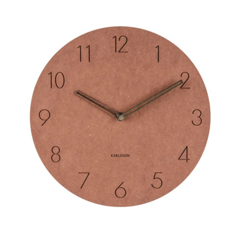 Dark Korean Wooden Wall Clock