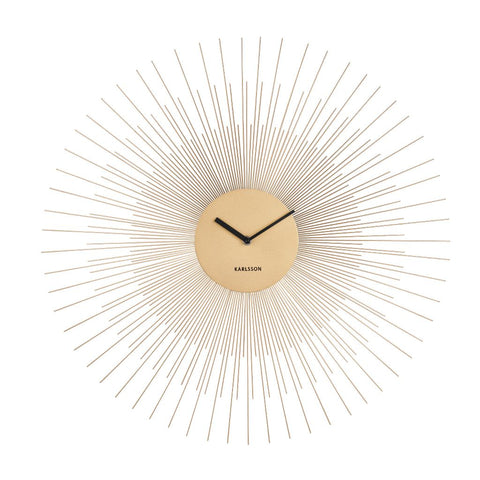 Large Sunburst Gold Wall Clock
