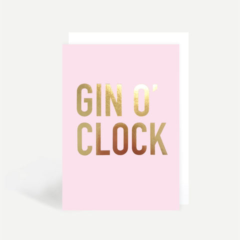 Gin O'Clock Greetings Card