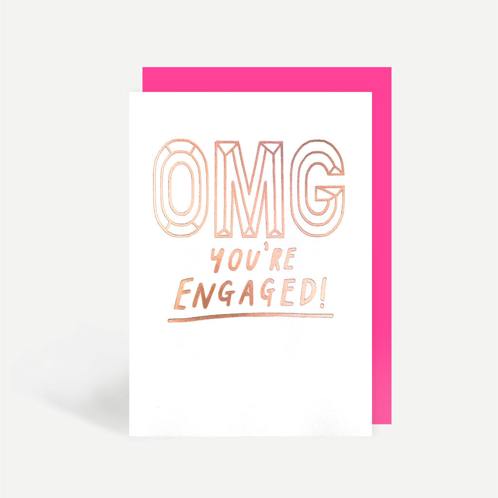 OMG You're Engaged Greetings Card